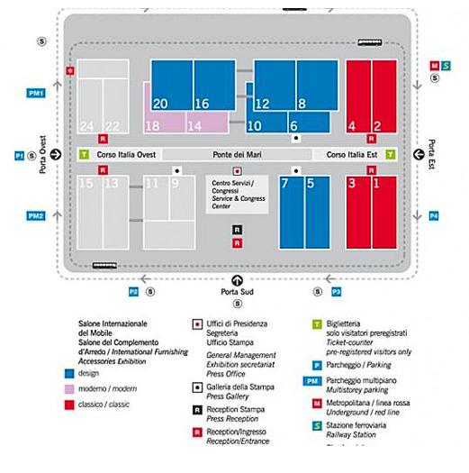 Salone Internazionale del Mobile mapMilan