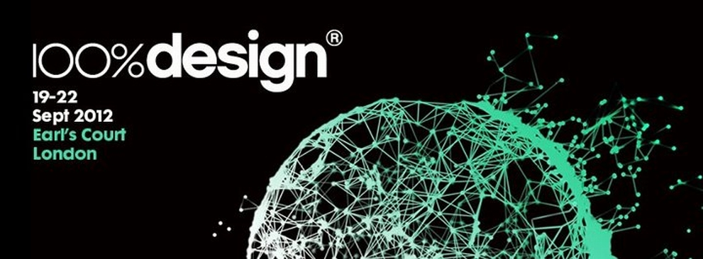 london  TOP 5 EXHIBITORS ON 100% DESIGN LONDON 100percent design london banner