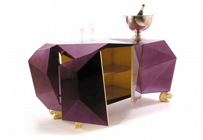 boca do lobo  TOP 5 EXHIBITORS ON 100% DESIGN LONDON boca do lobo diamond sideboard
