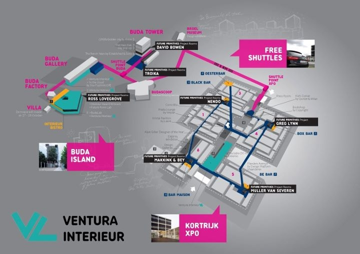 interieur  Interieur 2012, A Biennale in the city, a city in the Biennale INTERIEUR2012 Map Overview Diagram