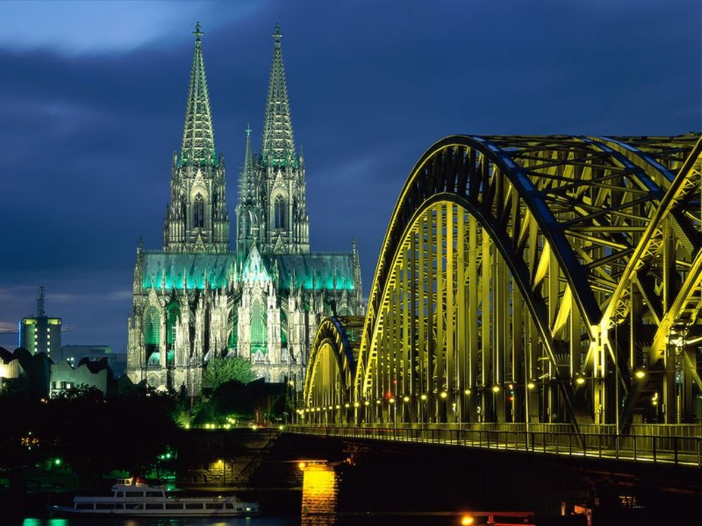 Medieval buildings from the city of cologne a picturesque city full