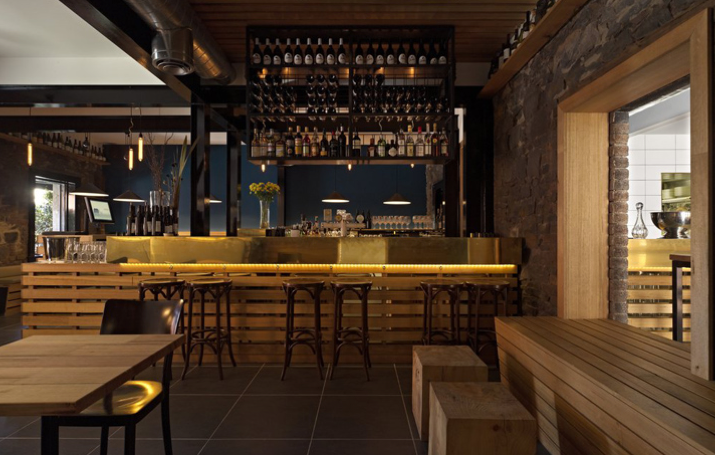 Melbourne s best design restaurants my design week for Wooden bar design