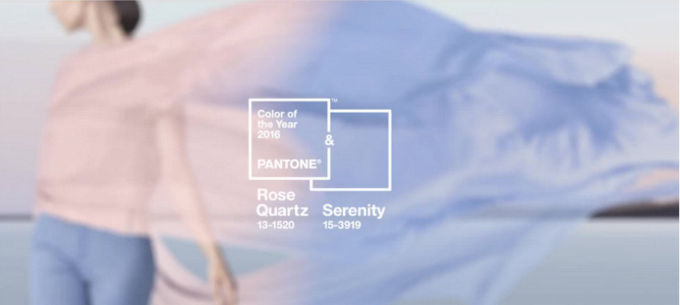 Pantone Color of the Year Rose Quartz & Serenity