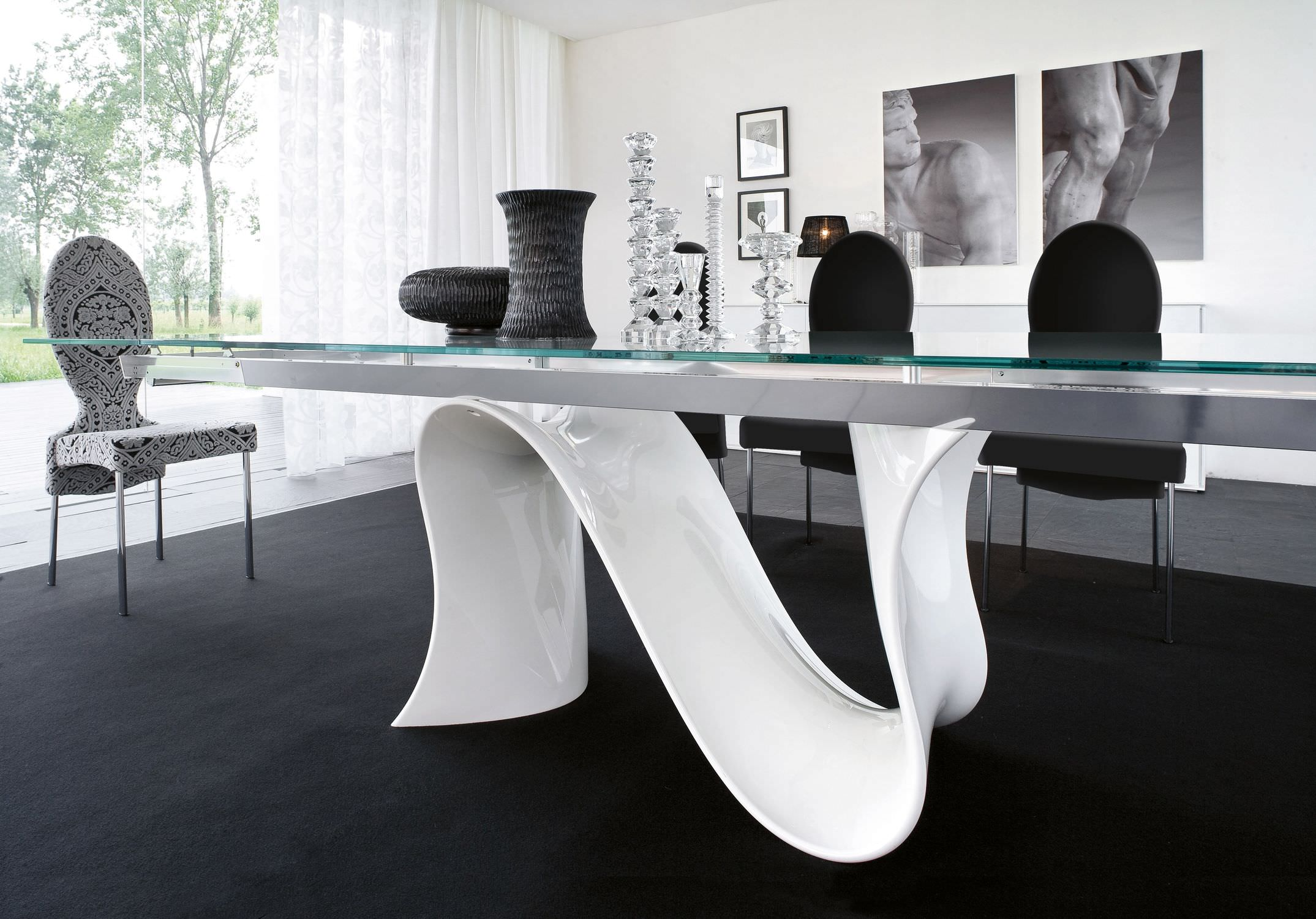 Top 5 Interior Designers at BDNY 2016 bdny 2016 Top 5 Interior Designers at BDNY 2016 Elite Modern Dining Tangent Glass Top Table Modern Furniture within Elegant Modern Dining Table 1
