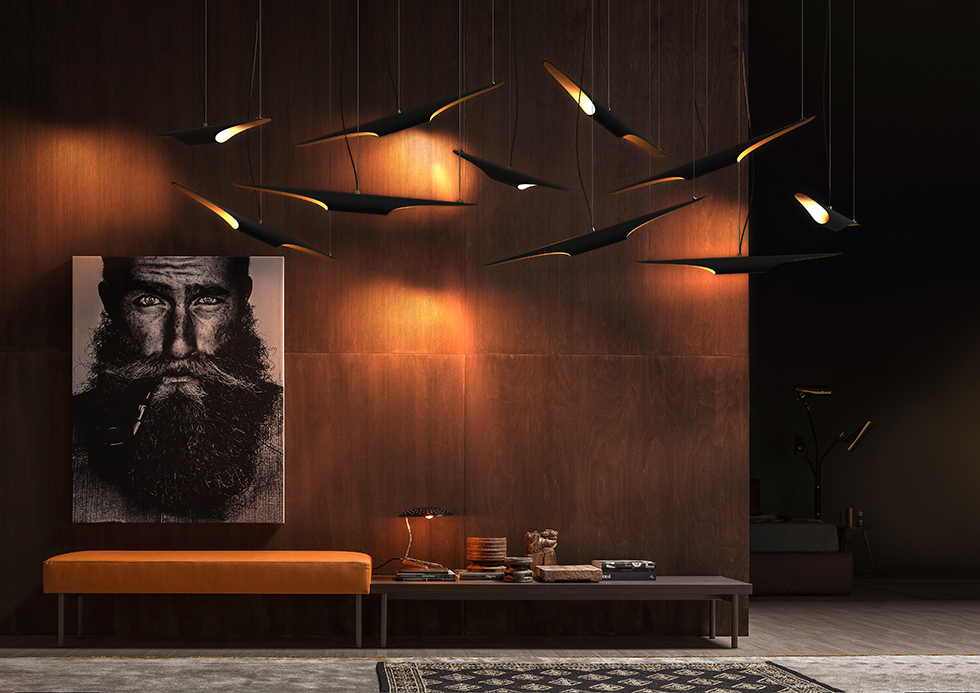 Top 5 Interior Designers at BDNY 2016 bdny 2016 Top 5 Interior Designers at BDNY 2016 coltrane unique midcentury modern lamp suspension lamp 05