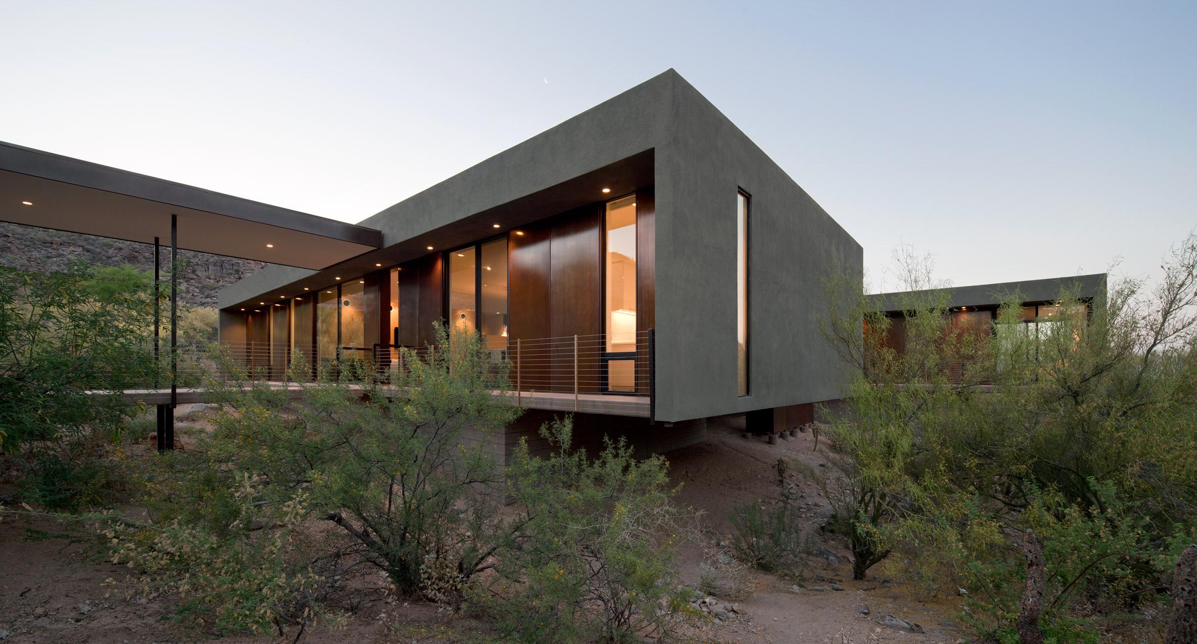 Ibarra Rosano Designs Home Above the Desert in Arizona