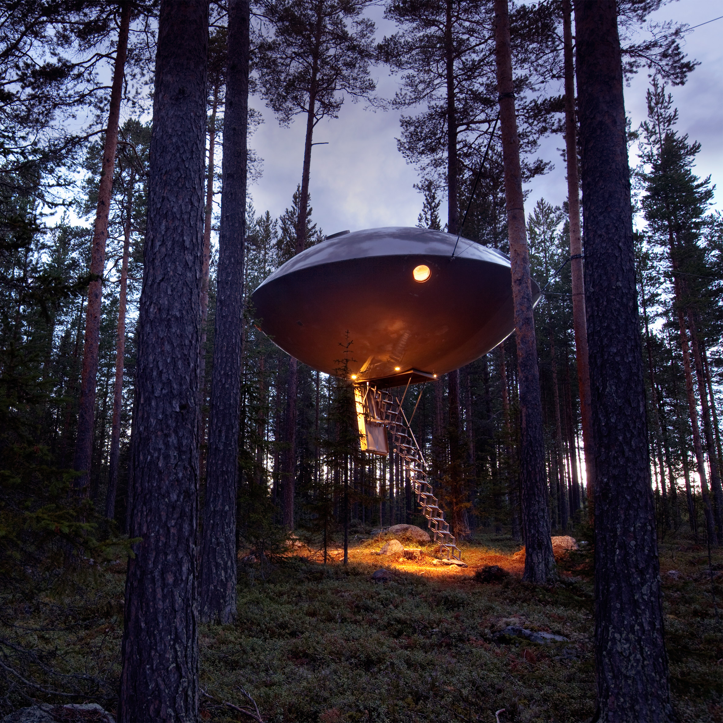 3 Incredible Treehouses You Will Want to Sleep in at Sweeden's Tree Hotel treehotel 3 Awesome Treehouses You Will Want to Sleep in at Sweden's Treehotel sweeden tree hotel architecture tree houses 2