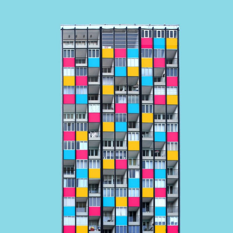 How the World Would Look Like with Vibrant Colorful Architecture