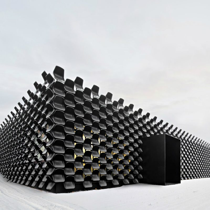 Chybik + Kristof Creates Furniture Showroom with 900 Plastic Chairs