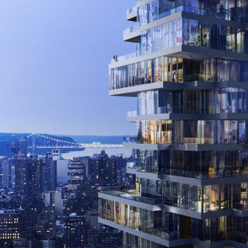 Herzog & de Meuron designs Colossal Jenga Tower in New York City