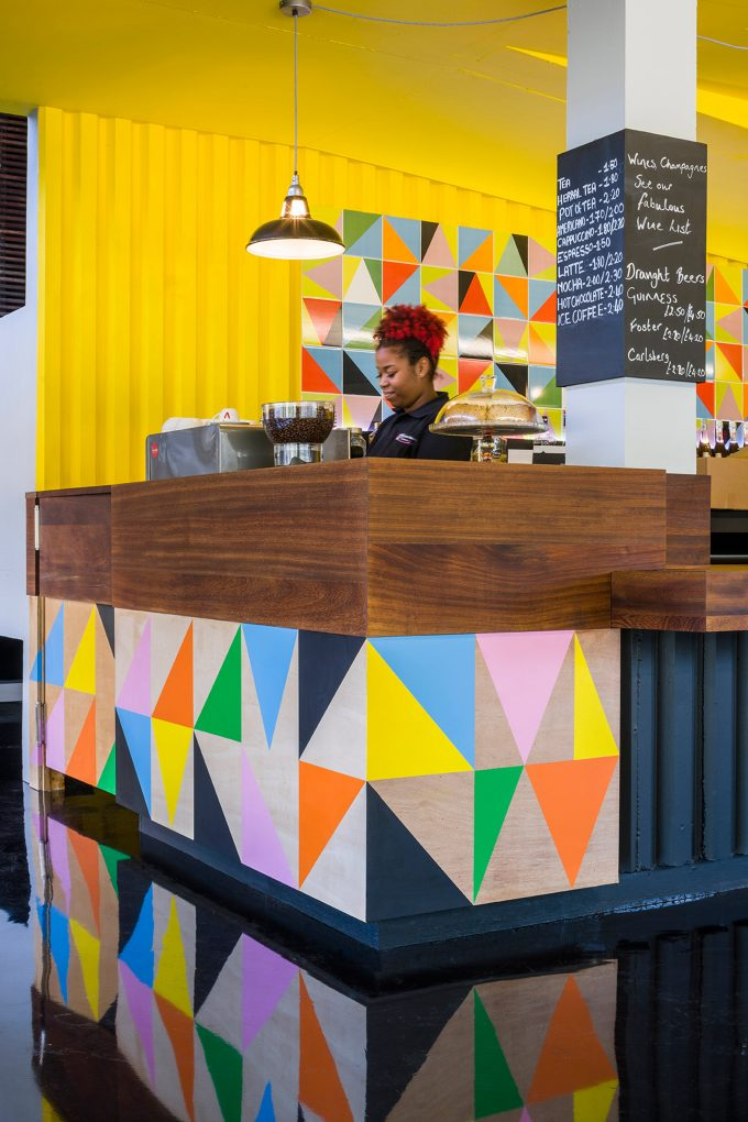 morag myerscough Morag Myerscough designs Colorful Cafe in Bernie Grants Arts Centre Morag Myerscough designs Colorful Cafe in Bernie Grants Arts Centre 4