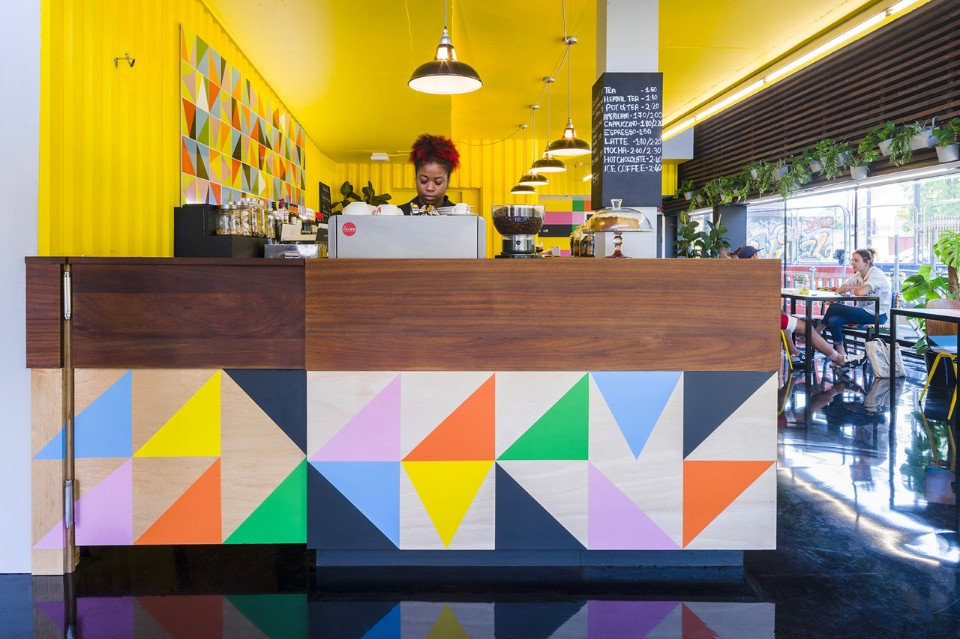 Morag Myerscough designs Colorful Cafe in Bernie Grants Arts Centre morag myerscough Morag Myerscough designs Colorful Cafe in Bernie Grants Arts Centre Morag Myerscough designs Colorful Cafe in Bernie Grants Arts Centre 5