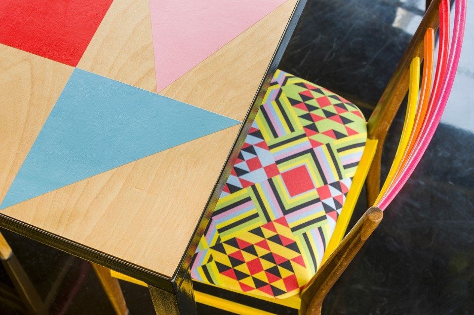 Morag Myerscough designs Colorful Cafe in Bernie Grants Arts Centre morag myerscough Morag Myerscough designs Colorful Cafe in Bernie Grants Arts Centre Morag Myerscough designs Colorful Cafe in Bernie Grants Arts Centre 6