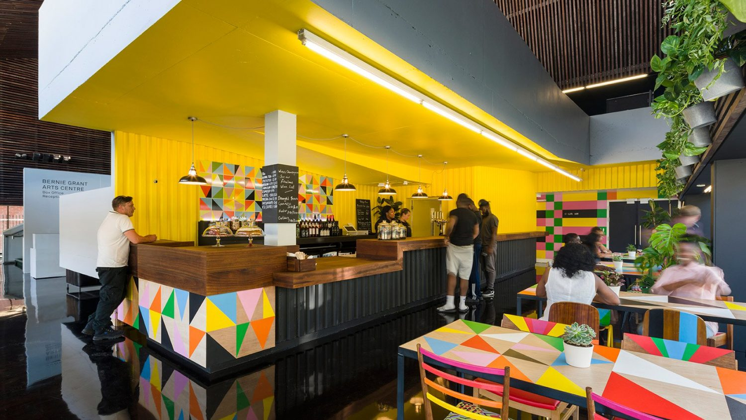 morag myerscough Morag Myerscough designs Colorful Cafe in Bernie Grants Arts Centre Morag Myerscough designs Colorful Cafe in Bernie Grants Arts Centre