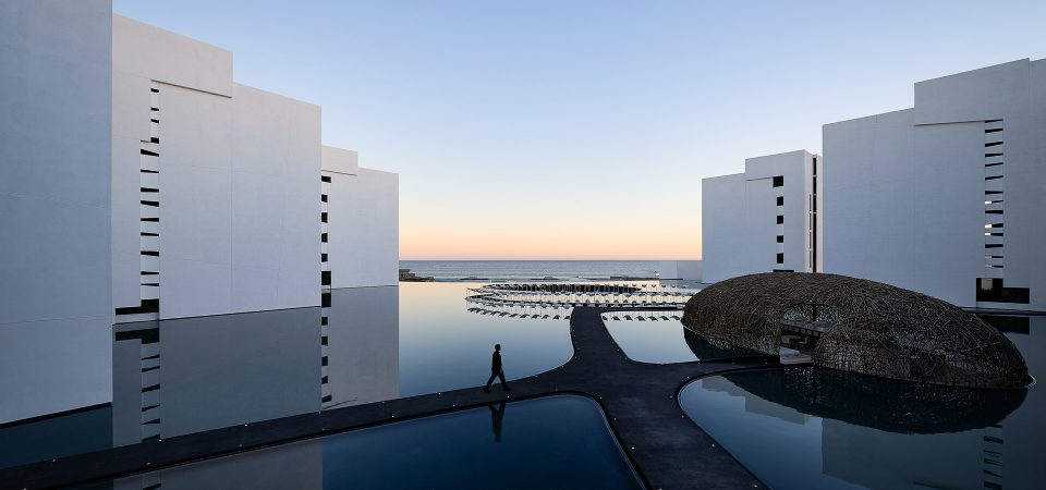 Hotel Mar Adentro by Taller Aragonés Surrounded by Expansive Pools