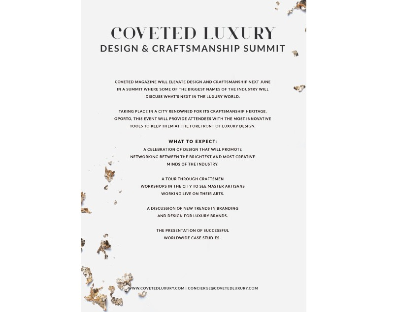 Introducing The Unmissable CovetED Luxury Design & Craftsmanship Summit 2018 luxury design The Unmissable CovetED Luxury Design & Craftsmanship Summit 2018 Introducing The Unmissable CovetED Luxury Design Craftsmanship Summit 2018 1