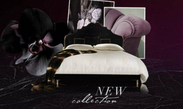 Vintage Interior Design Koket Vintage Interior Design at Salone del Mobile 2016 upholstered bed collection 2 slider koket love happens 585x350