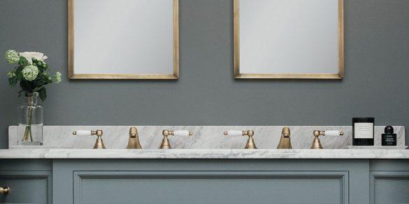 luxury bathroom Top Luxury Bathroom Exhibitors at Decorex 2016 PorterVanities DoubleStratfordCMYK 1 585x293