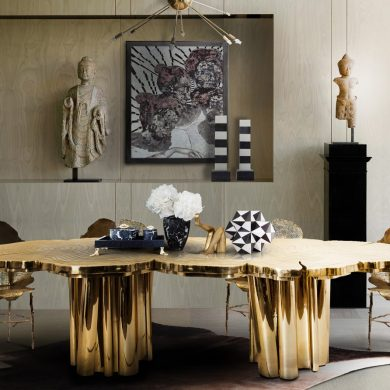 living room ideas Living Room Ideas For a Luxurious Interior Design Project fortuna dining table crop fifty shades darker 1 390x390