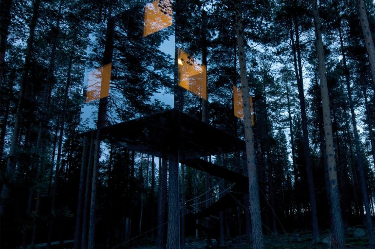 treehotel 3 Awesome Treehouses You Will Want to Sleep in at Sweden's Treehotel sweeden treehotel architecture tree houses 1 770x513