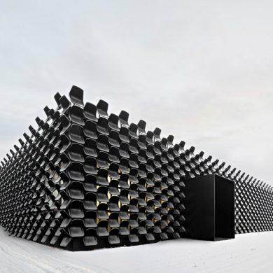 swarovski Swarovski Presents The New Infinite Aura Collection Chybik Kristof Creates Furniture Showroom with 900 Plastic Chairs 1 390x390