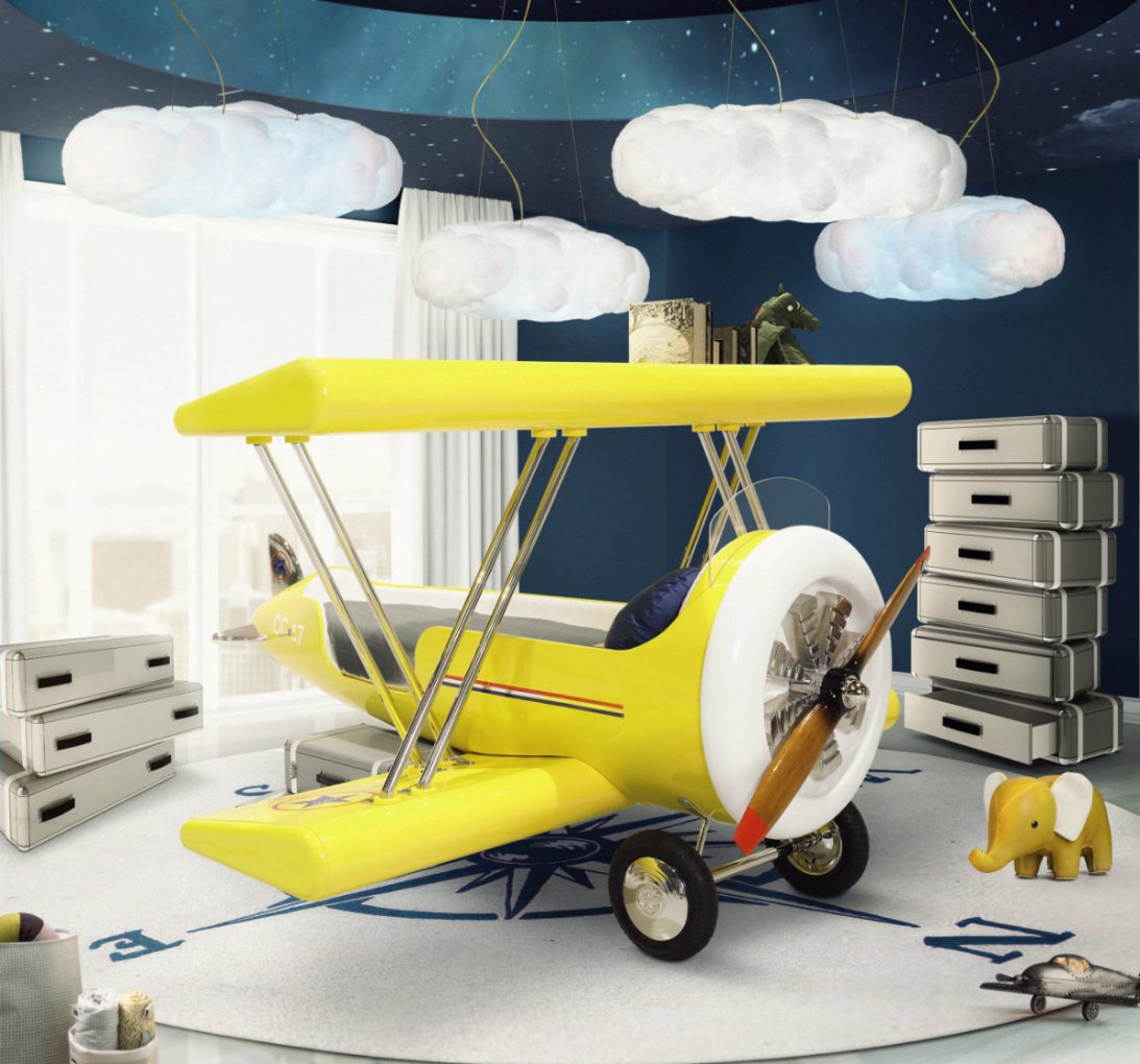 bedroom design How to Create an Airplane Inspired Bedroom Design Circu designs Stunning Airplane Bedroom Design For Kids 1