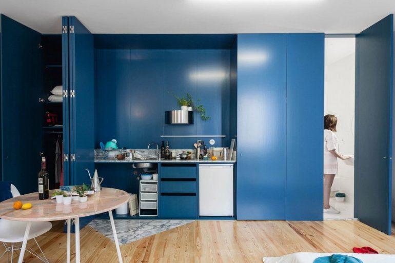 Fala Atelier designs Apartment in Porto Features Deep Blue Shutters fala atelier Fala Atelier designs Apartment in Porto Features Deep Blue Shutters fala 1 770x513