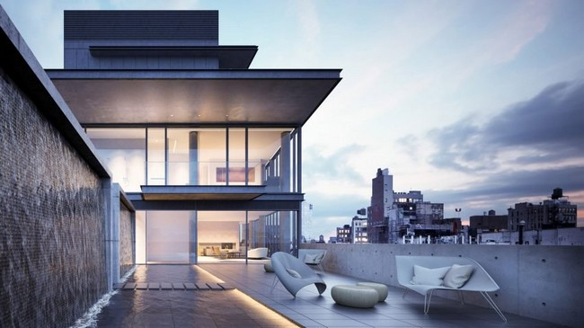 Rooftop Terrace Penthouse by Tadao Ando showcases Japanese Architecture at its best tadao ando Tadao Ando Showcases Japanese Architecture in NYC Residential Complex Rooftop Terrace Penthouse by Tadao Ando showcases Japanese Architecture at its best 7