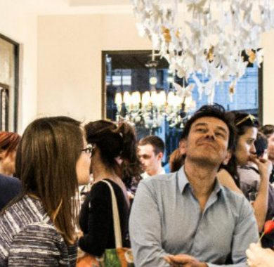 VHILS Portuguese Street Artist VHILS Took Over Paris! Lladr   Meets Boca do Lobo Inside Showrooms Opening Party 14 390x380