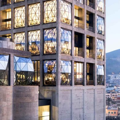 Cape Town Design Guide furniture showrooms in paris Furniture Showrooms in Paris To Visit During Maison et Objet 776 4  HR ZeitzMOCAA HeatherwickStudio Credit Iwan Baan Exterior at dusk copy V2 e1504048657317 min 390x390
