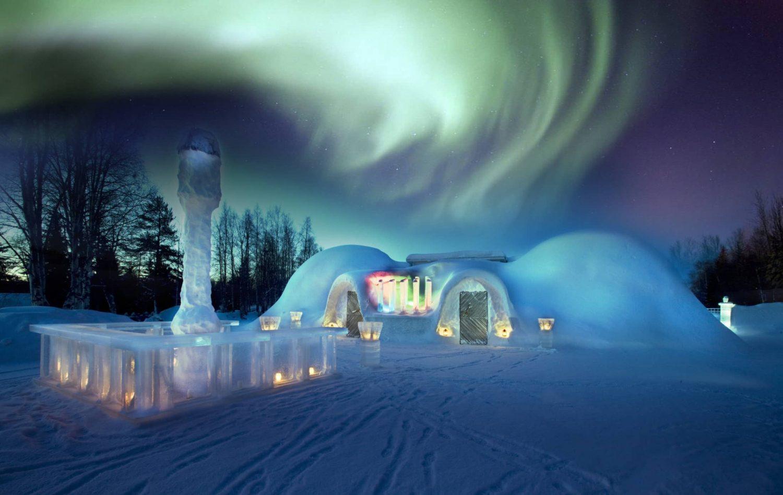 Arctic Design Week 2019 Arctic Design Week 2019 Arctic Design Week 2019 Event Guide snowland igloo restaurant northern lights rovaniemi lapland finland e1509643958733 min