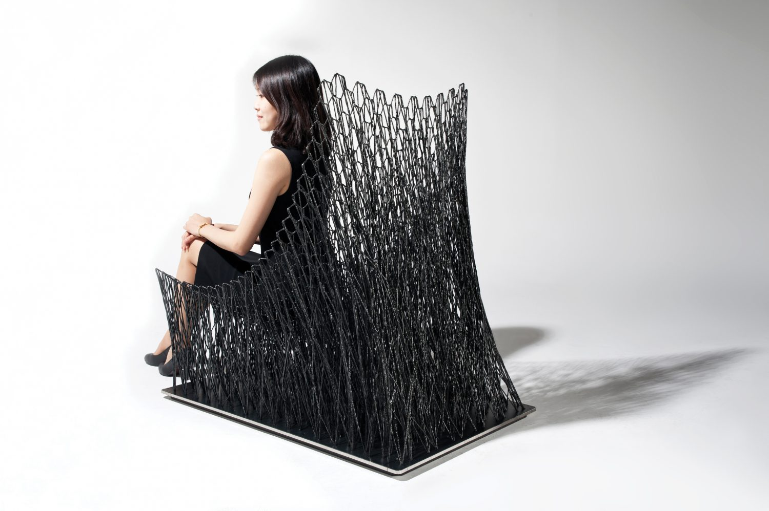 armchair at Biennale Internationale Design Saint-Étienne 2019 biennale internationale design saint-Étienne 2019 BIENNALE INTERNATIONALE DESIGN SAINT-ÉTIENNE 2019 EVENT GUIDE Luno Armchair