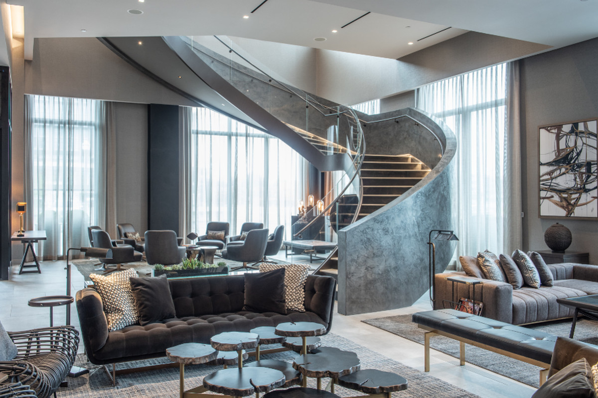 row hotel lobby of Boston Design Guide boston design guide BOSTON DESIGN GUIDE assembly row