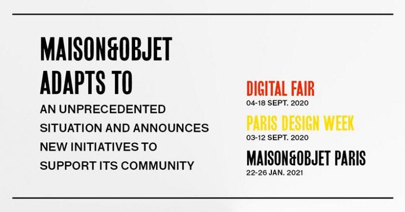 maison et objet Maison Et Objet 2020: Digital Fair maison objet 2020 digital fair 2 800x420
