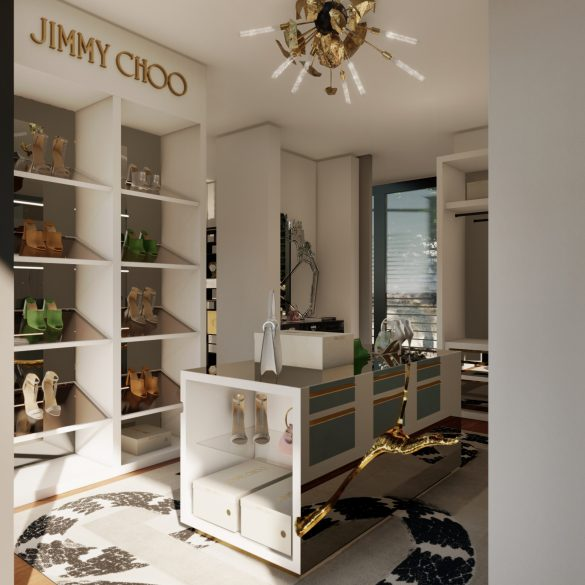 jimmy choo Jimmy Choo And Boca Do Lobo Created The Most Luxury Walk-In Closet Boca do Lobos Island Mansion A Dream Villa In Capri 1 585x585