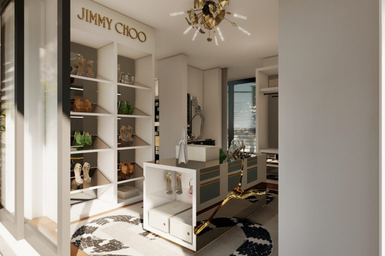 jimmy choo Jimmy Choo And Boca Do Lobo Created The Most Luxury Walk-In Closet Boca do Lobos Island Mansion A Dream Villa In Capri 1 770x513