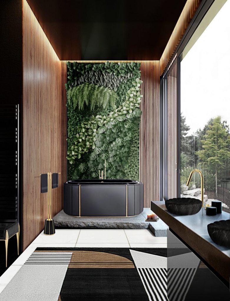 modern bathtubs 13 Modern Bathtubs To Buy Online MV darian black bathtub antelope rug scaled