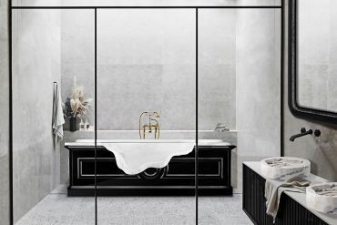 modern bathtubs 13 Modern Bathtubs To Buy Online MV petra bathtub midnight rug 1 370x247