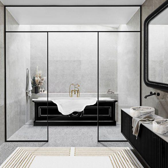 modern bathtubs 13 Modern Bathtubs To Buy Online MV petra bathtub midnight rug 1 585x585