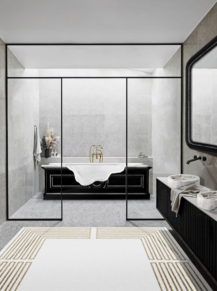 modern bathtubs 13 Modern Bathtubs To Buy Online MV petra bathtub midnight rug 1 scaled