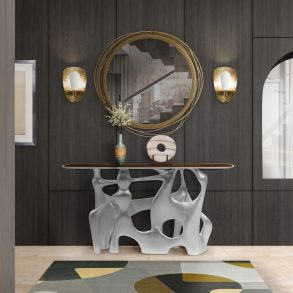 wall mirrors 15 Wall Mirrors You Can Buy Online BB bastei console cay mirror cell joh 1 293x293