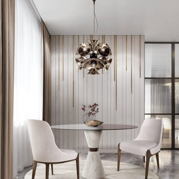 dining tables Elevate Your Dining Room With These Modern Dining Tables marble tables add neutral complement your living room 1 585x585