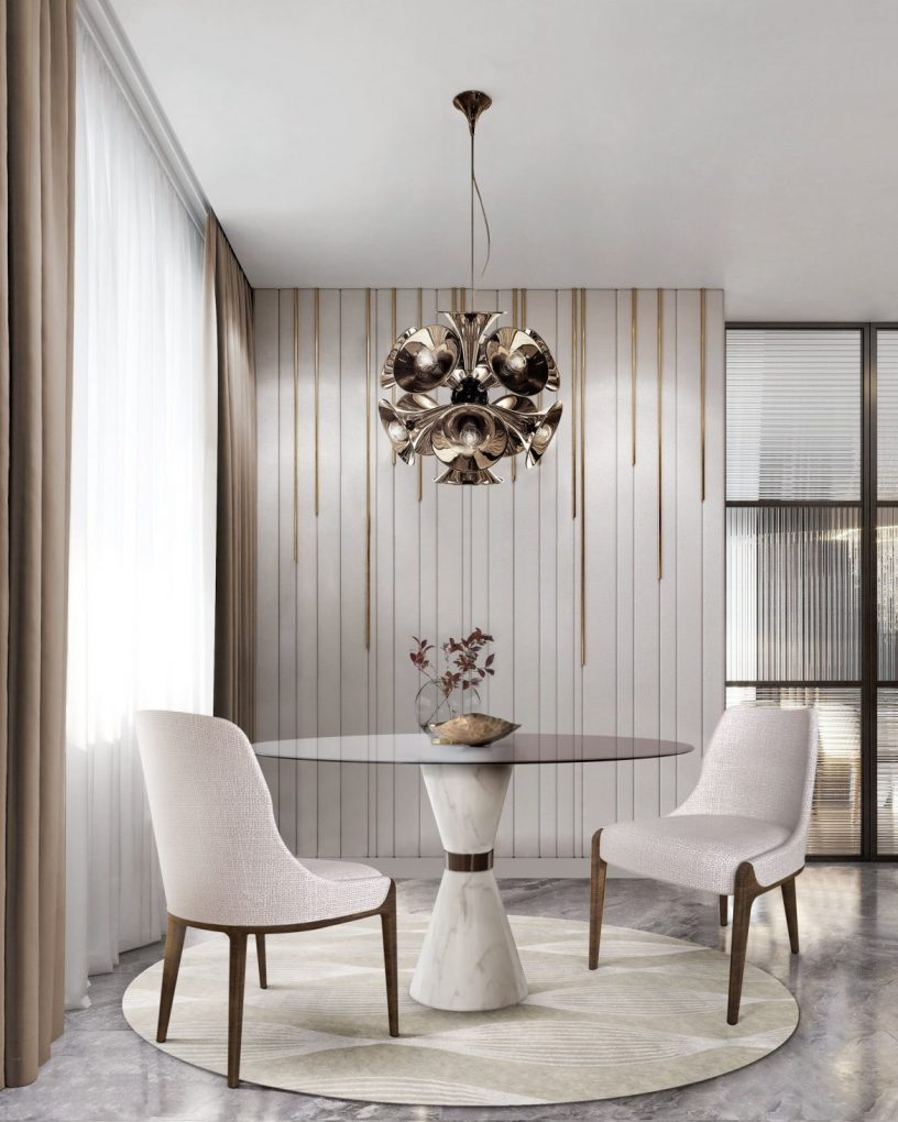 dining tables Elevate Your Dining Room With These Modern Dining Tables marble tables add neutral complement your living room 1
