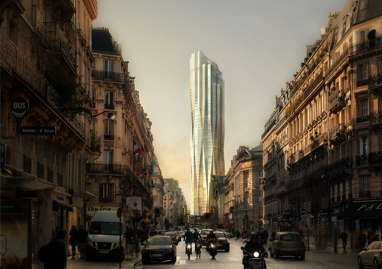 gang studio Gang Studio: An Ongoing Negotiation With Nature tour montparnasse paris france view from rue de rennes architecture